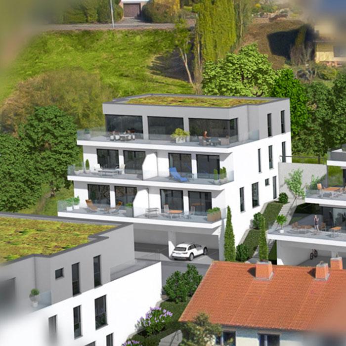 Haus 3 mit 5 bzw. 6 Eigentumswohnungen