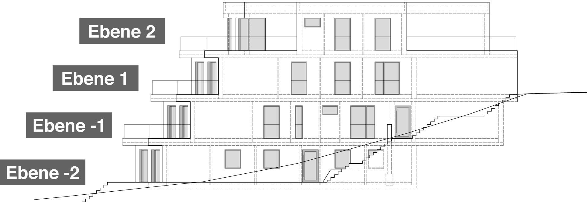 Ostansicht Haus 4 mit 8 Eigentumswohnungen
