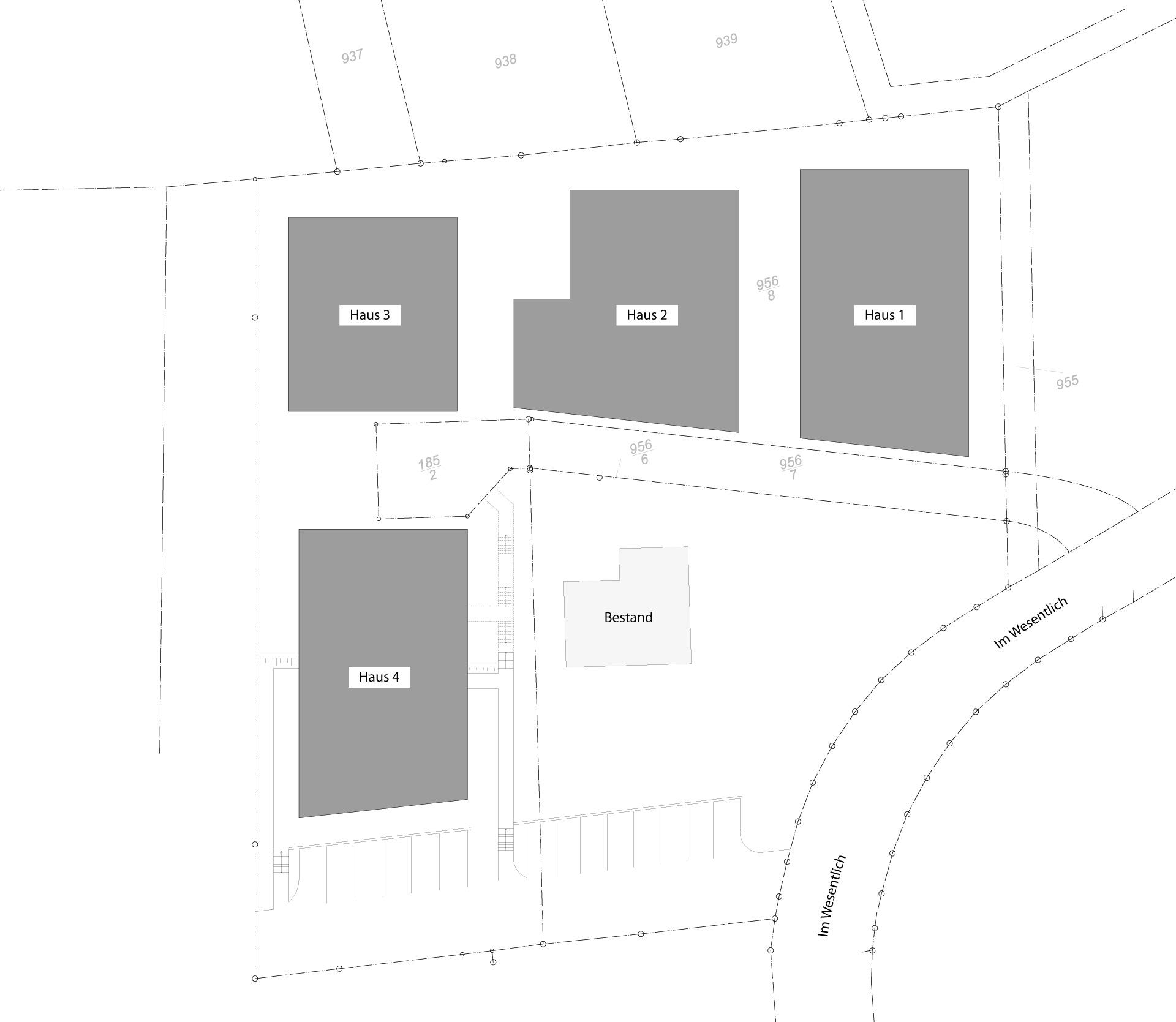 Lageplan Wohnpark Naheblick in Draufsicht